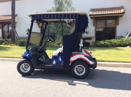 Air Brushed Golf Cart